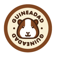 Round GuineaDad Guinea Pig and Orange Text Logo