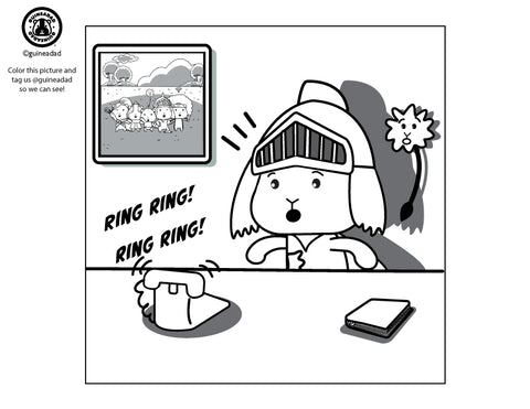 Wheekly Coloring Page: GuineaGang Comic