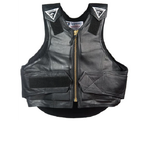 Phoenix 1014 Rough Rider Rodeo Vest - Black Leather