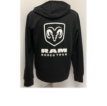 Load image into Gallery viewer, Men's Official RAM Rodeo Tour Front Zip Hoodie