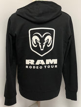 Load image into Gallery viewer, Ladies Official RAM Rodeo Tour Front Zip Hoodie