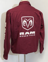 Load image into Gallery viewer, Ladies Official RAM Rodeo Tour Shirt - Back & Sleeve Logos