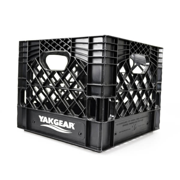 "Black 13"" X 13"" Milk Crate (Square) 