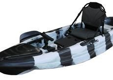 Stingray JR. Limited - Eddy Gear Kayaks | Kayaks for Fishing and Recreation -Black/White/Stripe-Eddy-Gear.com