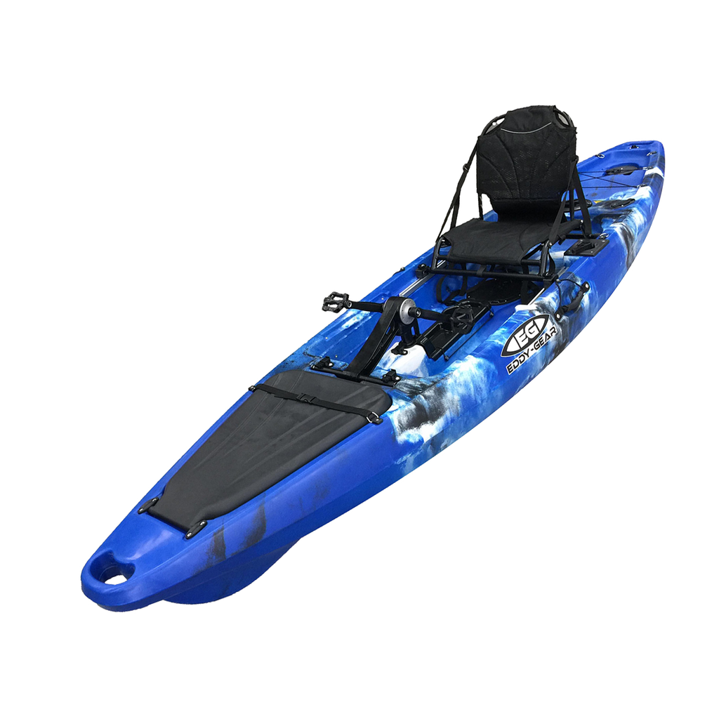 Marlin - Eddy Gear Kayaks | Kayaks for Fishing and Recreation -BlueWhiteBlack-Eddy-Gear.com
