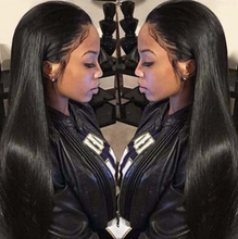 Load image into Gallery viewer, 13*4 Lace Front Human Hair Pre Plucked Brazilian Straight Virgin Hair