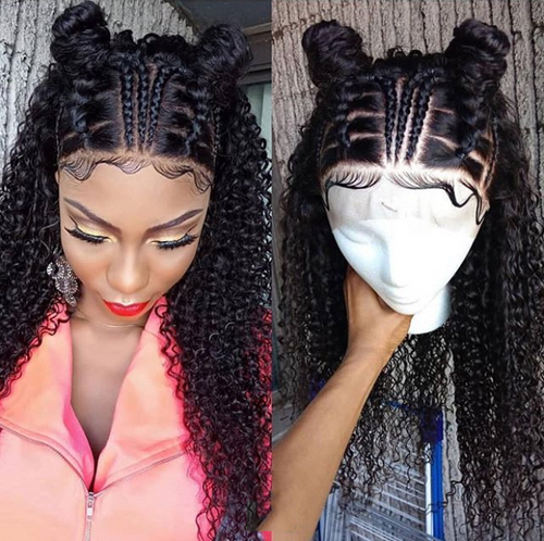 Curly Braid Lace Front Wigs Latest Design-African Hair
