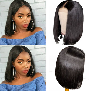 13x4 Short Bob Wigs Lace Front Human Hair Wig Pre Plucked Hairline With Baby Hair Brazilian Remy Hair