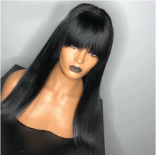Load image into Gallery viewer, Bang Wig Human Hair Straight Pre Plucked Wig With Baby Hair Wig With Bangs Preplucked Lace Wig Remy