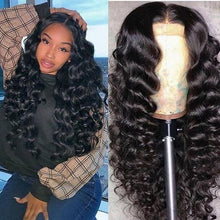 Load image into Gallery viewer, 360 Lace Frontal Wig Water Wave Wig Remy Ponytail Swiss Lace Wig