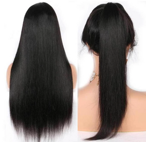 (Free shipping over $45)360 Lace Frontal Wigs Brazilian Straight Human Hair Wigs
