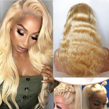 Load image into Gallery viewer, Blonde malaysian 360 Wave Lace Front Wigs With Baby Hair