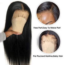 Load image into Gallery viewer, (Free shipping over $45)10A Lace Front human Wig with Baby Hair Pre Plucked 100% Unprocessed Brazilian Virgin Straight wig