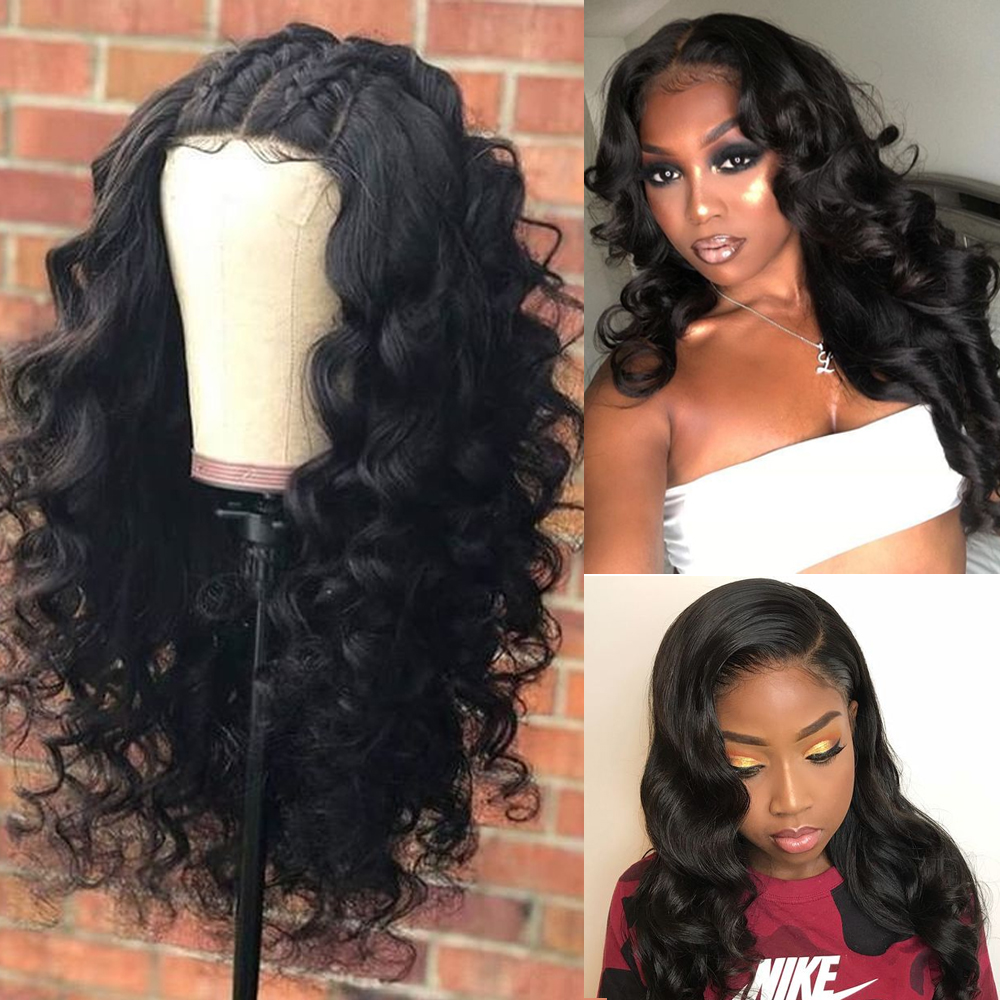 13*4 Lace Frontal Wig Pre Plucked Baby Hair Brazilian Body Wave Remy Hair