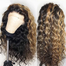 Load image into Gallery viewer, 13*4 Brazilian Lace Frontal Hair and Baby Hair Remy Wave Hair
