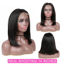 Load image into Gallery viewer, 13x4 Short Bob Wigs Lace Front Human Hair Wig Pre Plucked Hairline With Baby Hair Brazilian Remy Hair