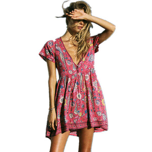Nessy's Pink Floral Print Summer Dress