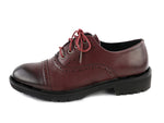 Autumn Burgundy Red Oxford Shoes