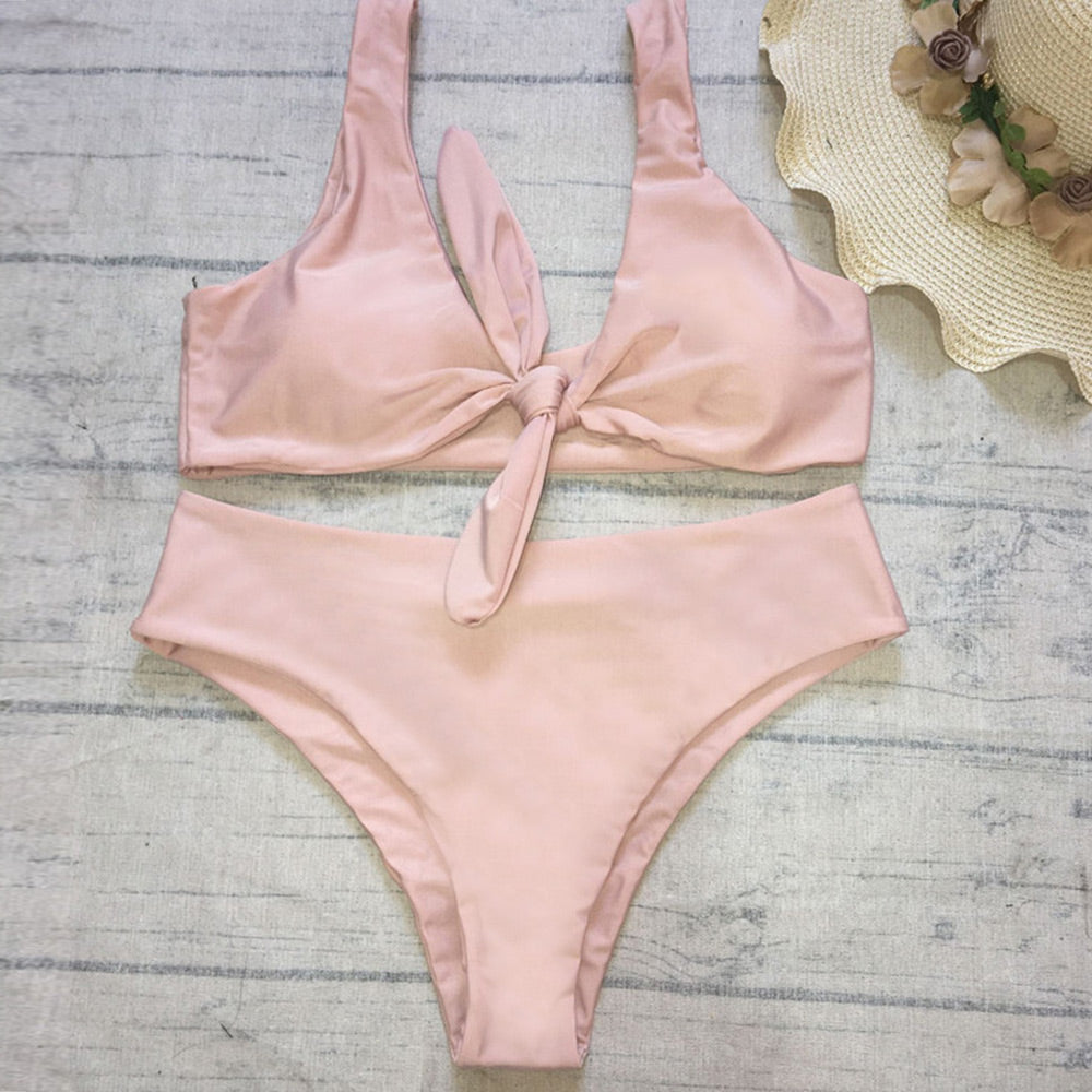 Must Have. Gorgeous High Waist Nude Color Bikinis.