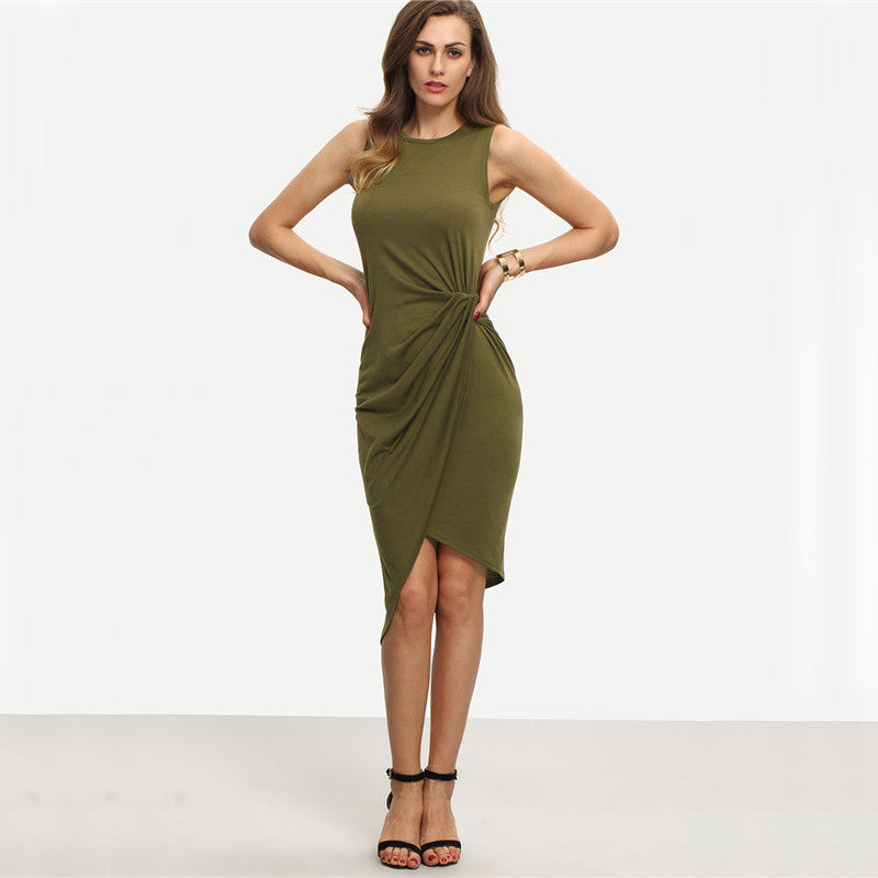 Tanea's Olive Green Regular Dress