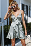 Magda's Satin Gorgeous Mini Dress