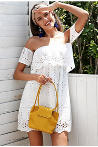 Polina's Off-Shoulder Lace Dress