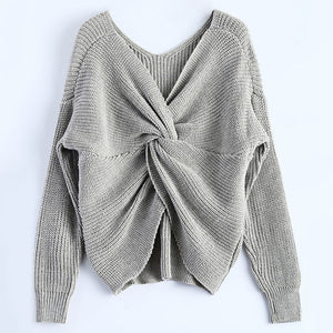 Knitted Twisted Pullover