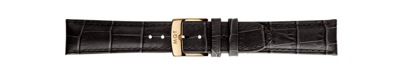 Black Croc Gold | 20 mm