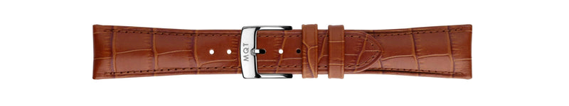 Brown Croc Silver | 22 mm