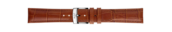 Brown Croc Silver | 20 mm