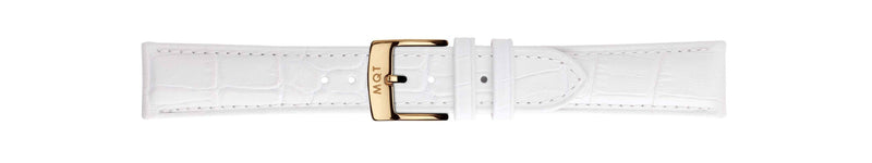 White Croc Gold | 20 mm
