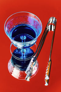 Blue Cocktail on Red