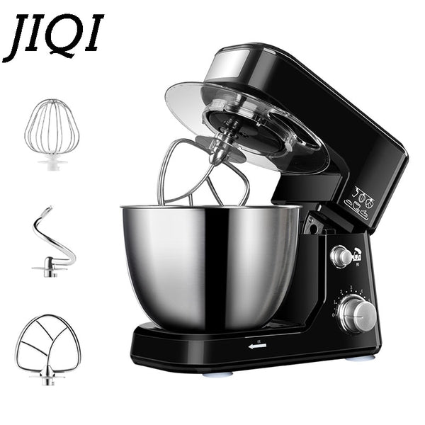 JIQI 4L Stainless Steel Bowl Machine Whisk Eggs Beater