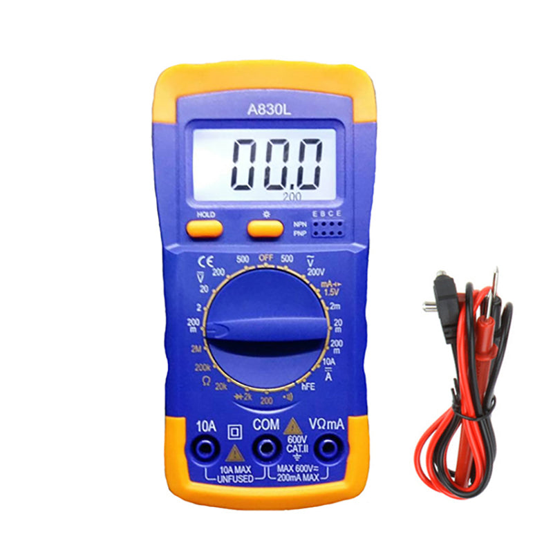 Urijk A830L LCD Digital Multimeter Durable DC AC