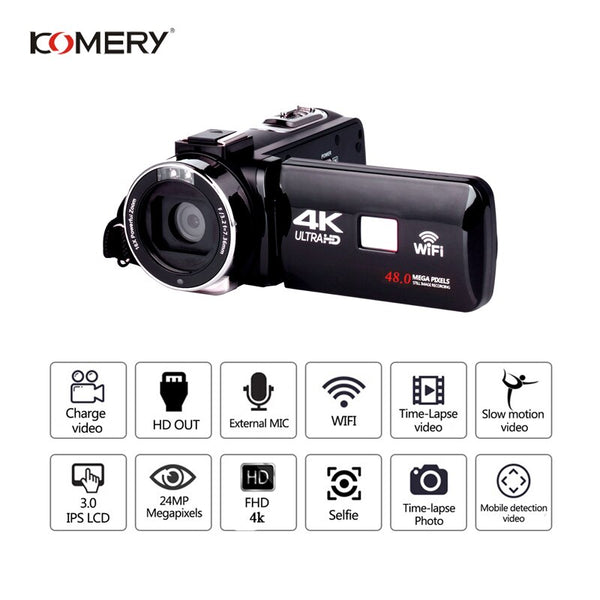 KOMERY 4K Camcorder Video Camera Night Vision