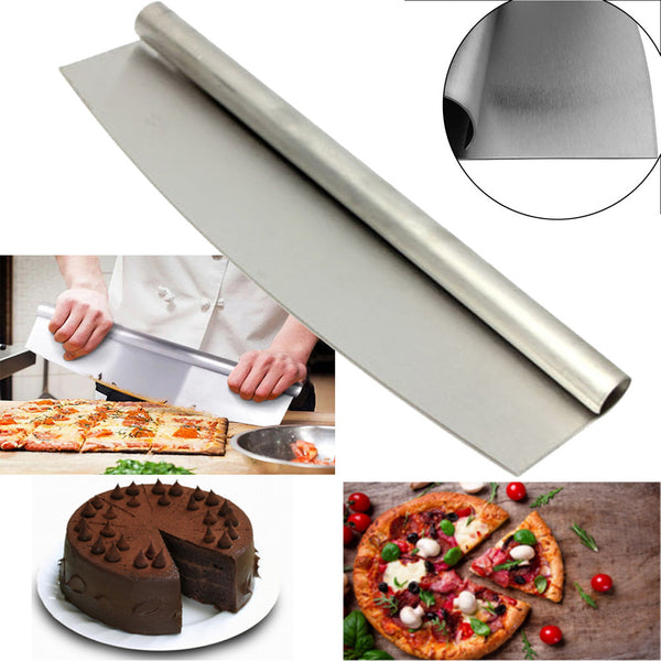 Stainless Steel Pizza Cutter 12 Inch Blade Rocker Slicer