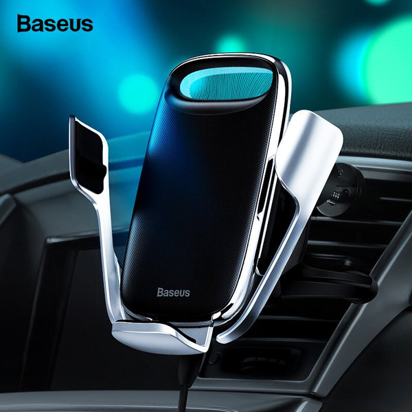 Baseus Car Phone Holder 15W Qi Wireless Charger