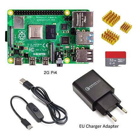Raspberry Pi 4 Model B Basic Starter Kit