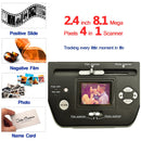 2.4 inch 8.1 Mega Pixels 4 in 1 Photo and Film Scanner