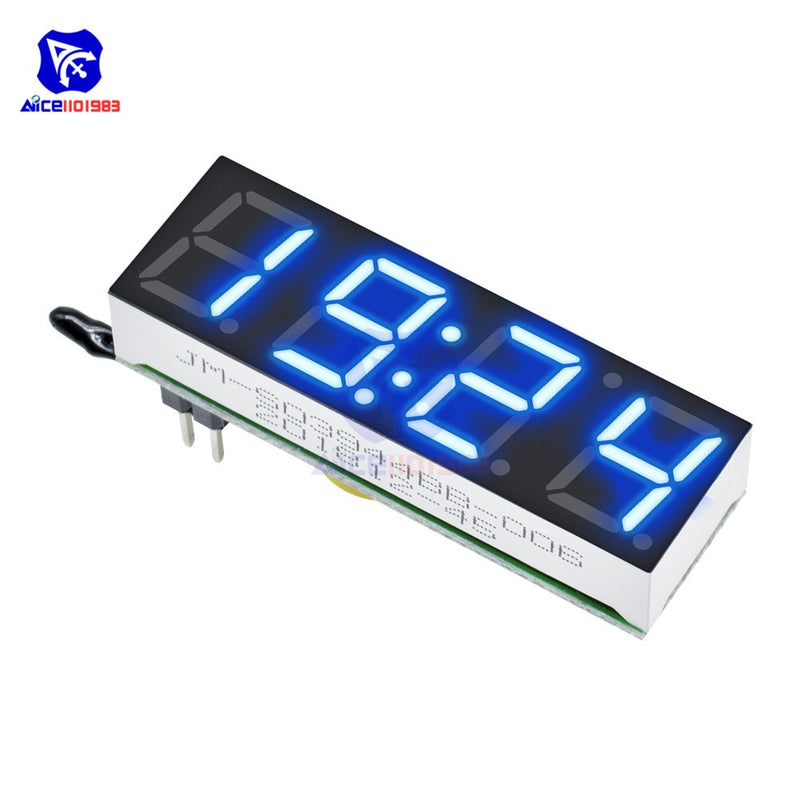 3 in 1 DS3231SN Digital LED Time Clock Temperature Voltage Module