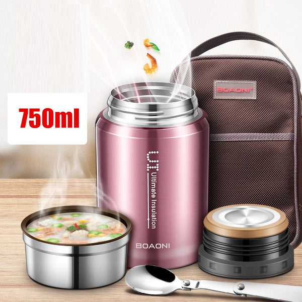 BOAONI 750ml Thermos Food Jar Vacuum Insulated