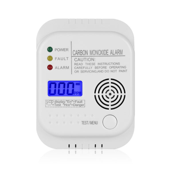 CO2 Detector, Security with Optical & Acoustic Warnings