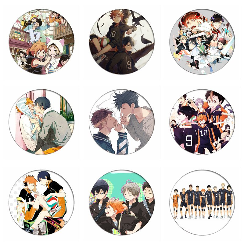 1pcs Manga Haikyuu!! Cosplay Badges Hinata Shoyo Brooch Pins 58mm Japan Anime Collection Badge for Backpacks Clothes