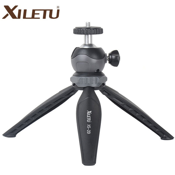 XILETU XS-20 Mini Desktop little Phone Stand Tabletop Tripod for Vlog Mirrorless Camera Smart phone with Detachable Ball head