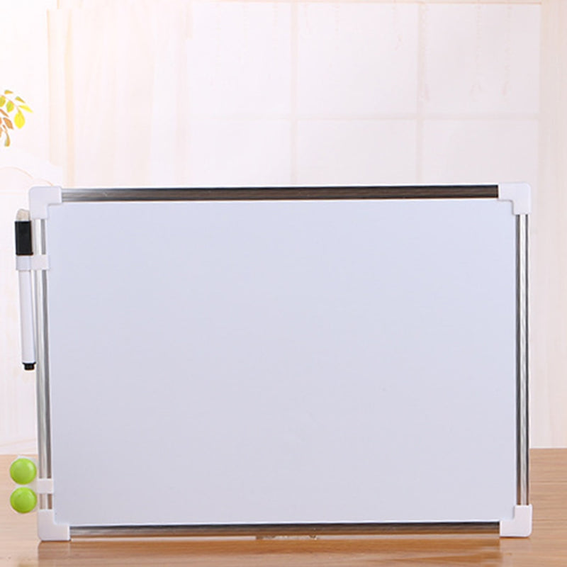 Double Side  Whiteboard Office School Dry Erase Writing Board Pen Magnets Buttons