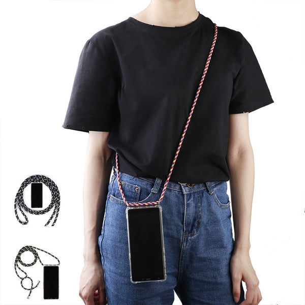 multicolor Protective Phone Case Cover with Necklace Crossbody Rope for Samsung S8 Plus S9 Plus S10 plus S10 lite Note 9