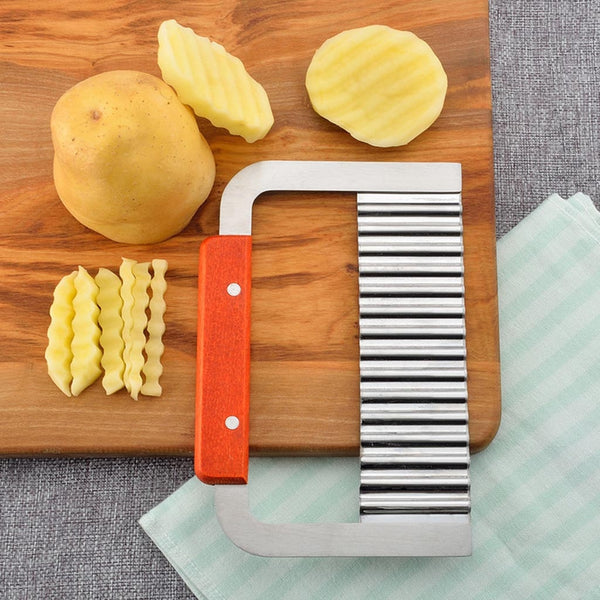 Potato Chip Crinkle Wavy Cutter Tool Fry