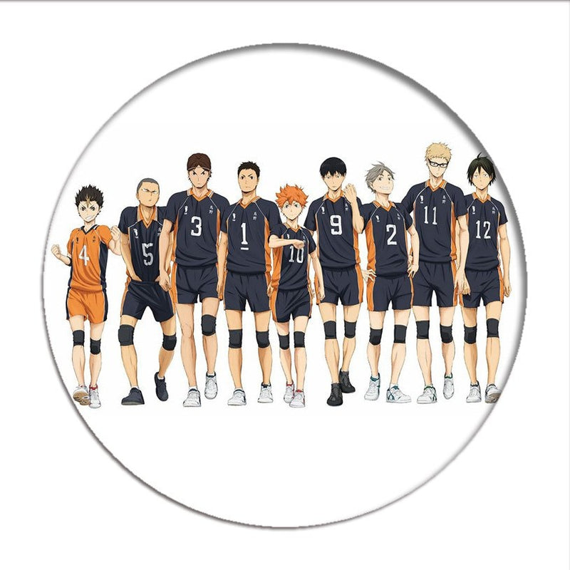 Manga Haikyuu!! Cosplay Badges Hinata Shoyo Brooch Pins