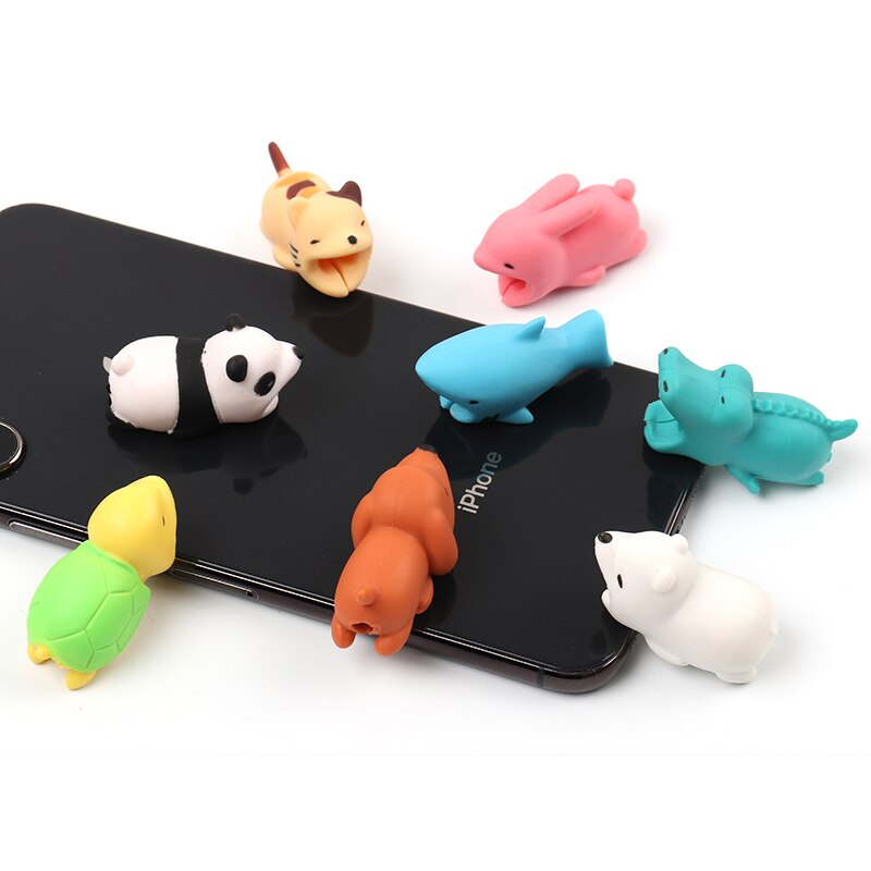 Cute Cable animal protector chompers for iphone usb cable chomper saver organizer Cable bite charger cord wire holder for iphone