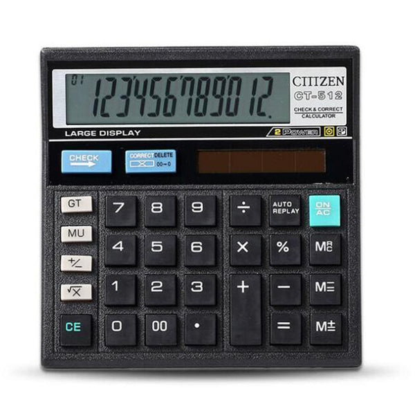 Calculator Economical Solar Dual Power Stationery Calculating Tool